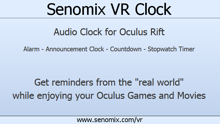 VR Clock banner